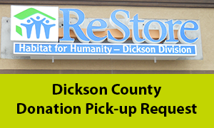 Dickson county donation pick-up request