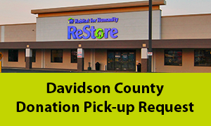 Davidson county donation pick-up request