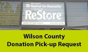 Wilson County donation pick-up request