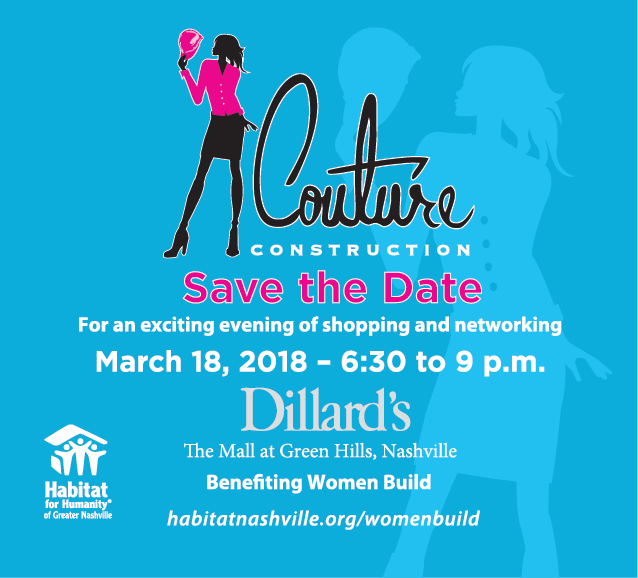 Save the Date — March 18, 2018 for Couture Construction